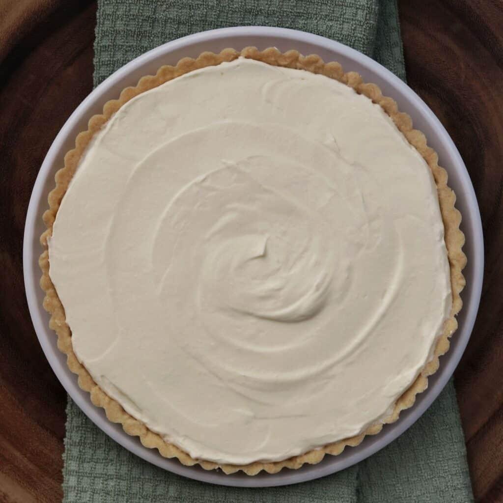 chilled lemon cream tart