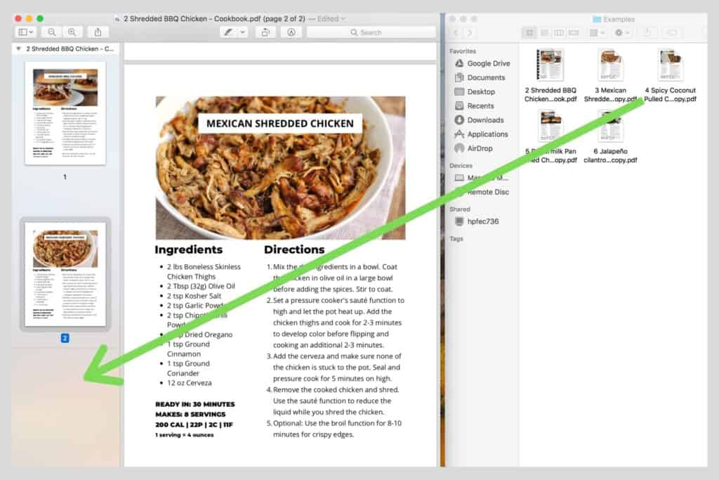 how to combine multiple PDFs in Mac
