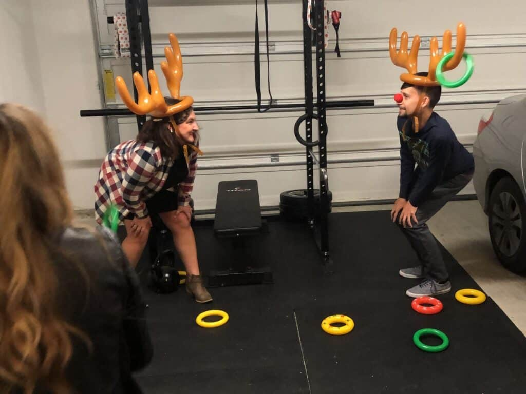 Guests playing reindeer toss.