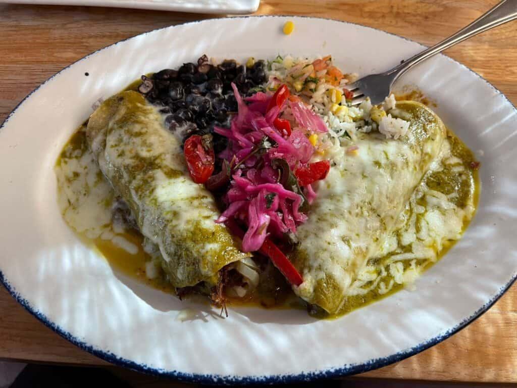 Jack Allen's barbacoa enchiladas
