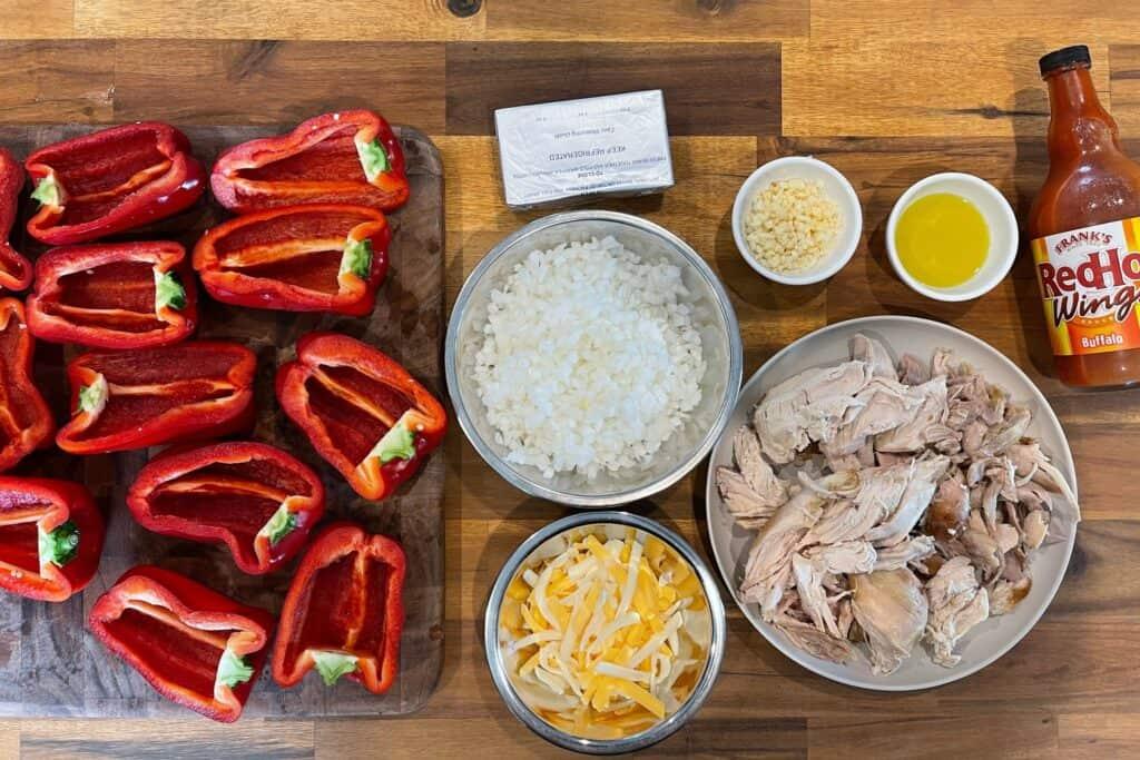 buffalo chicken stuffed peppers ingredients