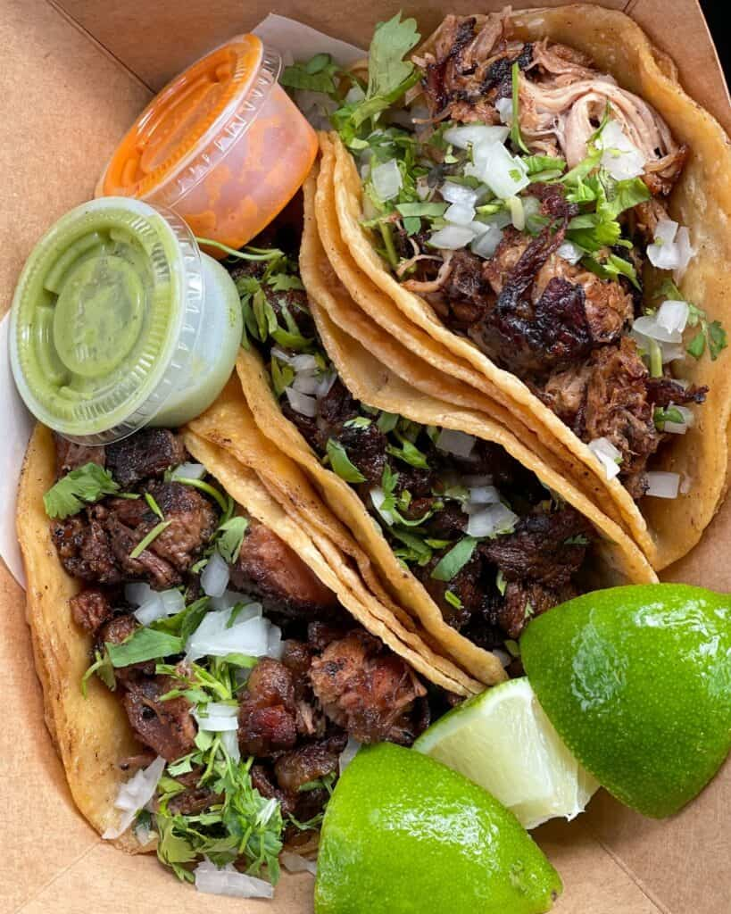 tacos from Paprika in Austin, Texas