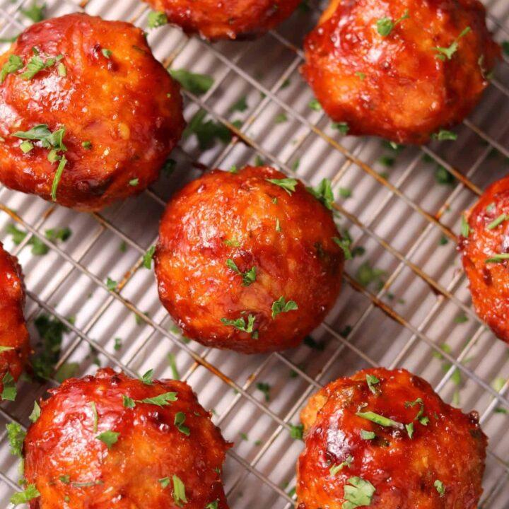 Smoked BBQ Chicken Meatballs