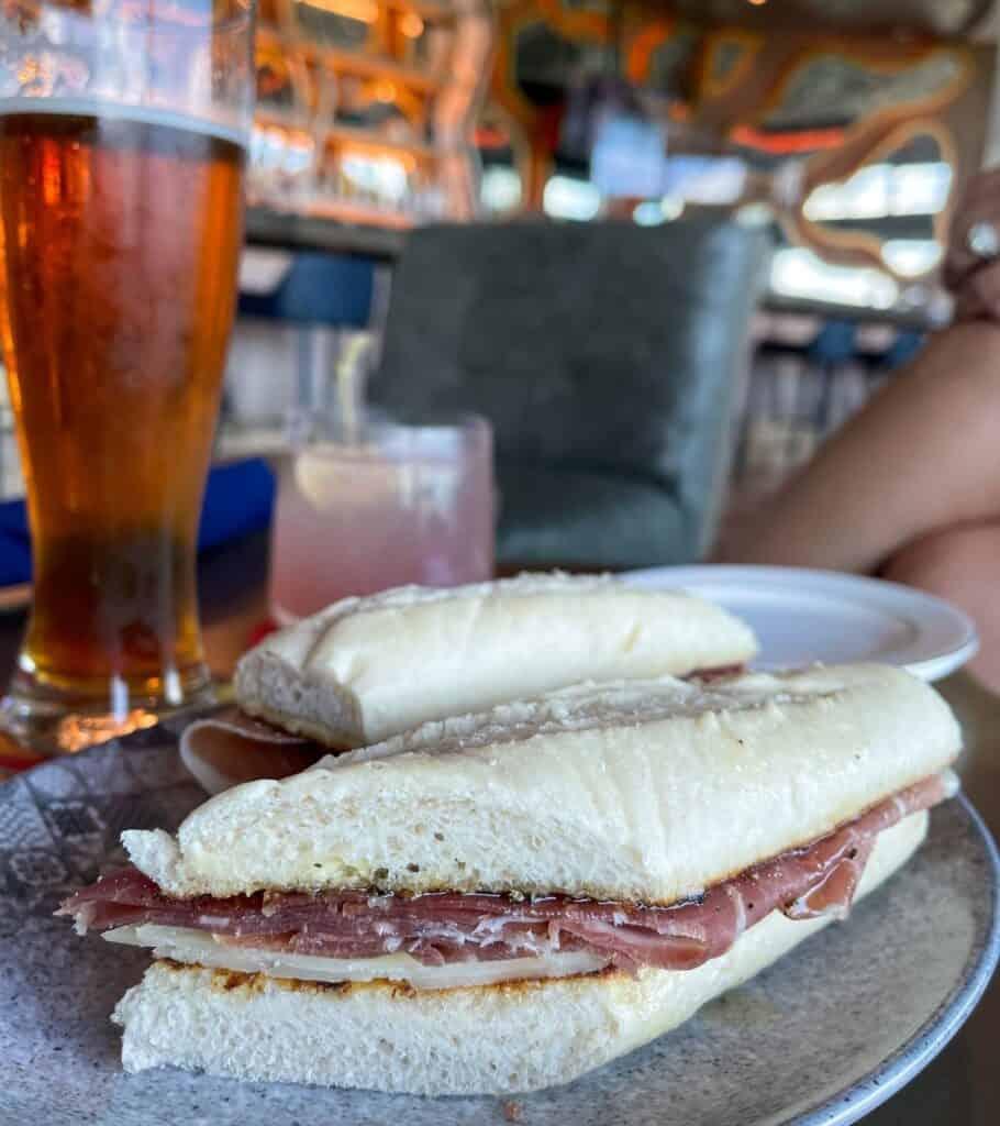 bocadillo with drinks from Dahlia Lounge in Coronado Springs Resort