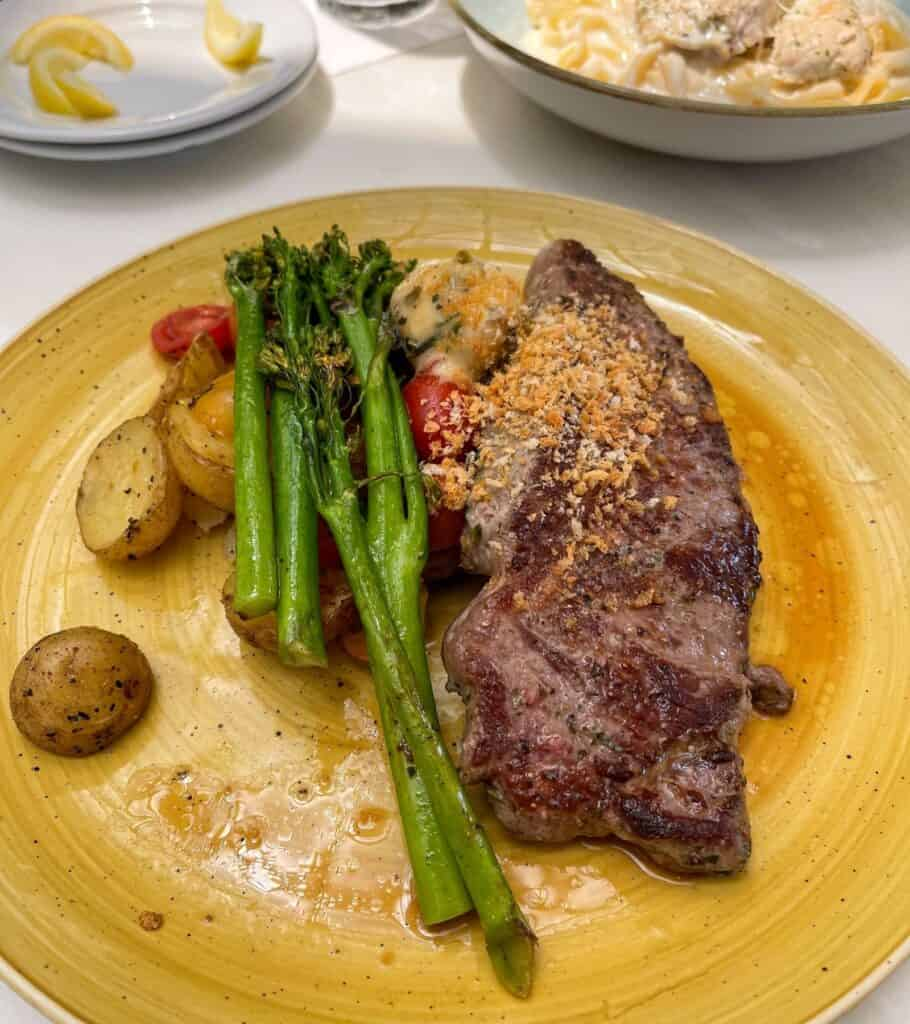 steak with vegetables from Tony's Town Square