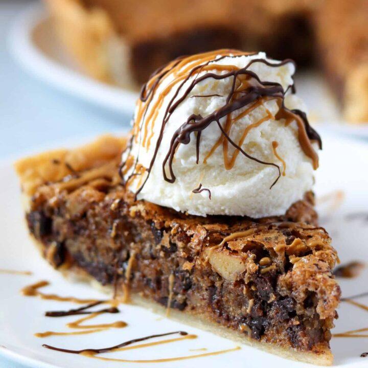 Walnut & Dark Chocolate Chip Cookie Pie