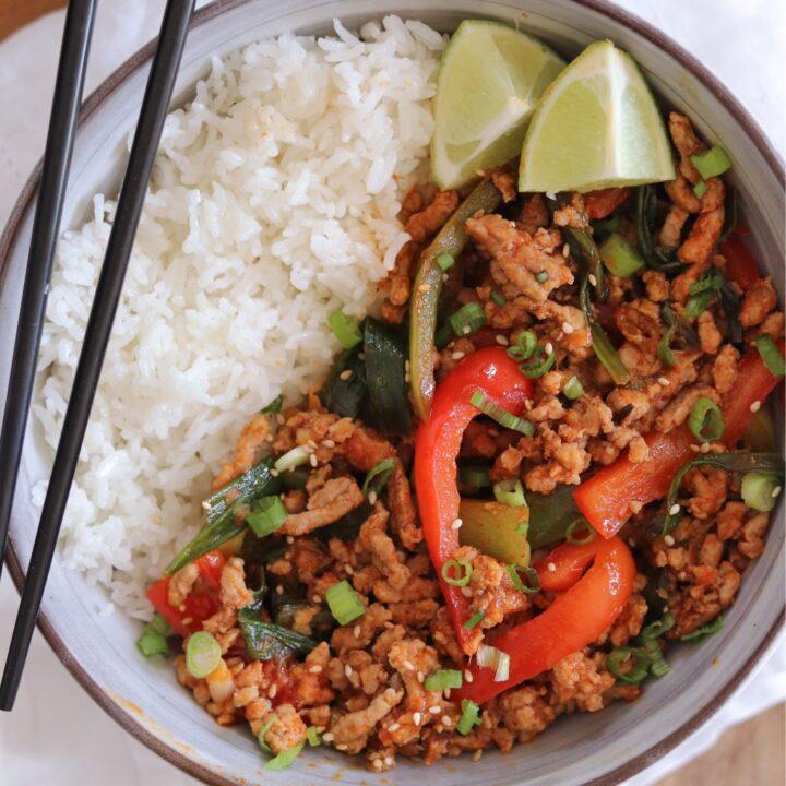 Spicy Ground Pork Stir Fry
