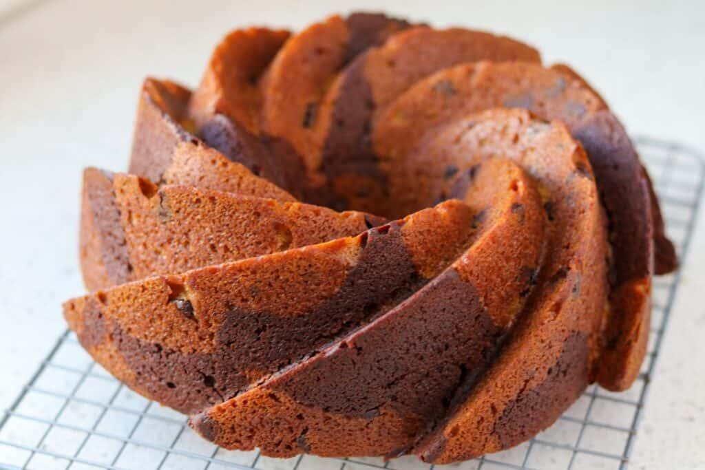 Chocolate and Pumpkin Bundt Cake
